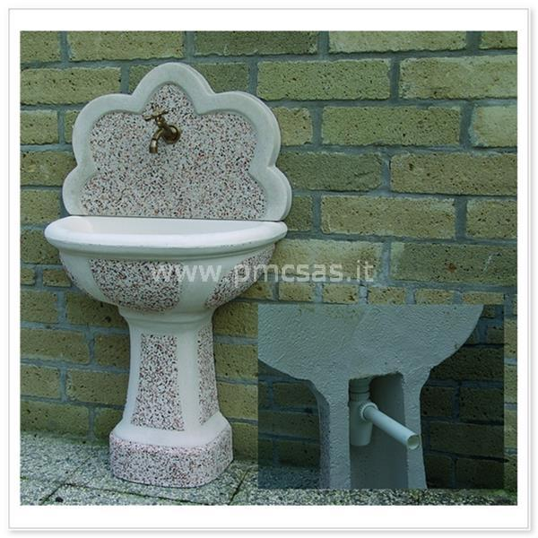 Fontane a muro fontane per esterno senna cm70x41x120h nelle varie ...