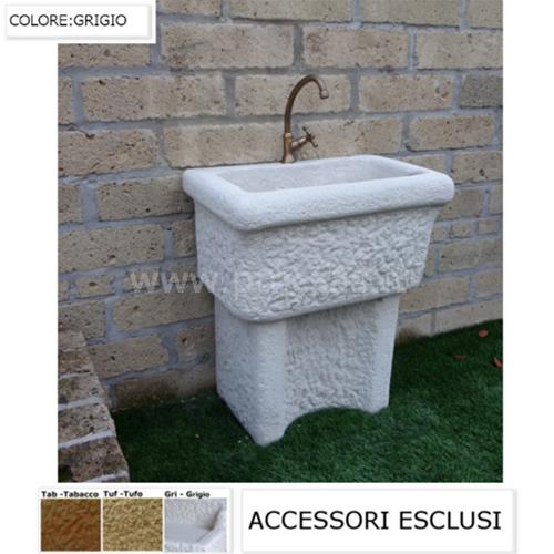 Lavatoio da esterno lavatoio per esterno in pietra dordogna cm60x40x74h ebay - Colori da esterno ...