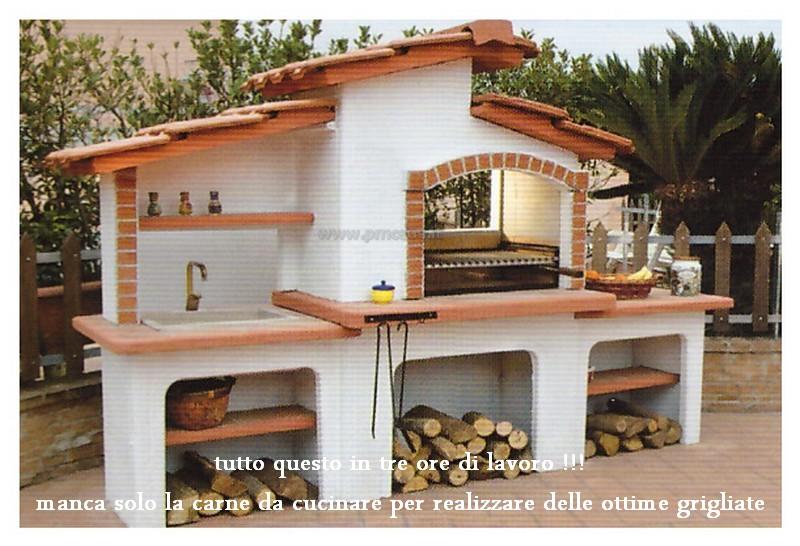 Barbecue e forno pizza in muratura iv96 regardsdefemmes - Barbecue esterno ...