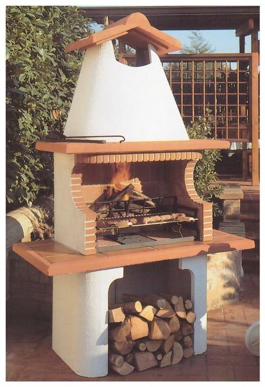 Barbecue a legna in muratura pmc prefabbricati e arredo - Barbecue esterno ...