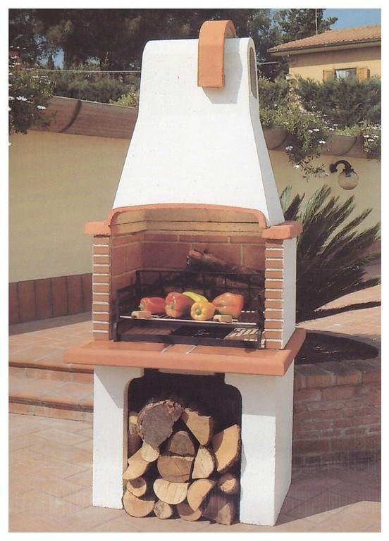 Barbecue a legna in muratura pmc prefabbricati e arredo - Barbecue da giardino a legna ...