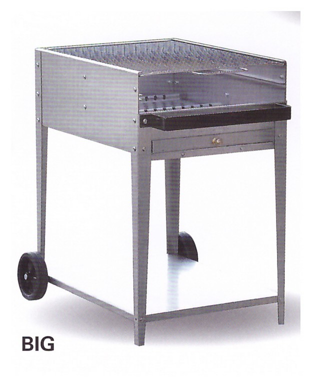 Barbecue in ferro pmc prefabbricati e arredo giardino for Barbecue fai da te in ferro