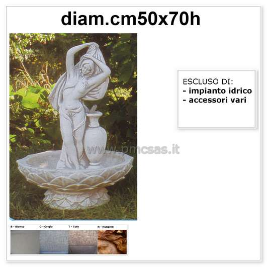 Fontana da giardino pmc prefabbricati e arredo giardino - Prefabbricati da giardino ...