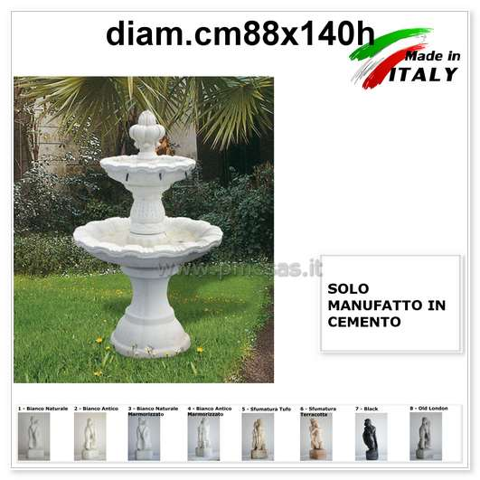 Fontana da giardino pmc prefabbricati e arredo giardino for Fontane a cascata da giardino