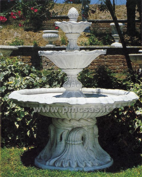 Fontana giardino pmc prefabbricati e arredo giardino - Fontane in marmo da giardino ...