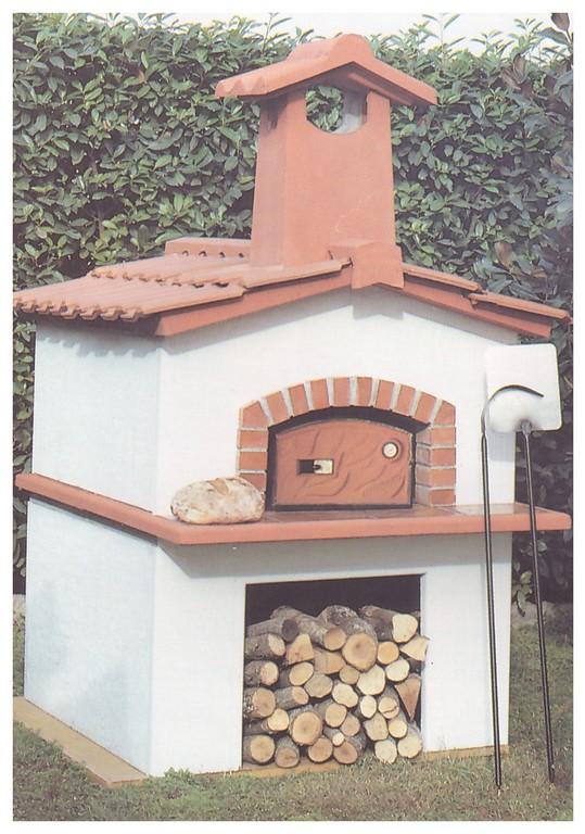 Forni a legna prefabbricati da giardino pmc prefabbricati e arredo giardino - Barbecue in muratura con forno a legna ...