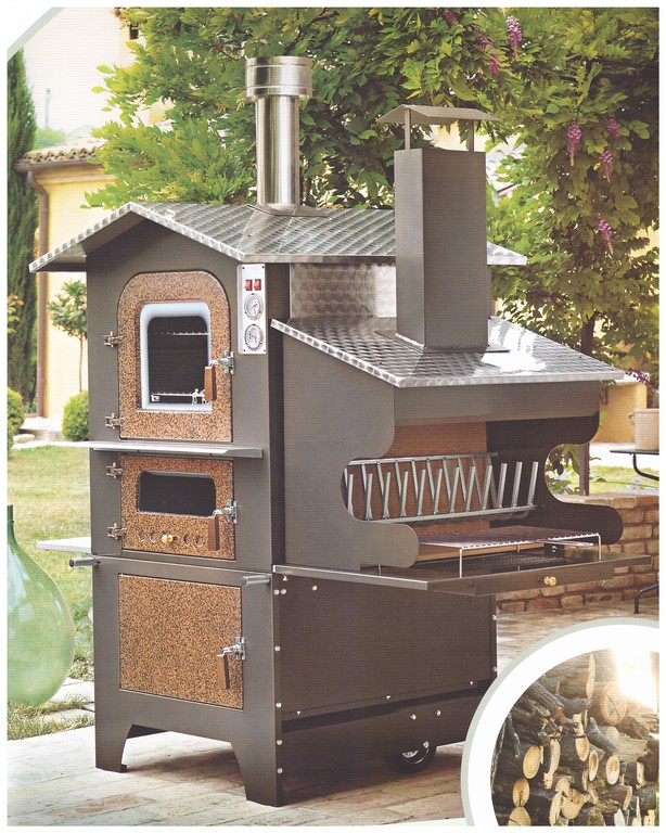 Forno a legna portatile pmc prefabbricati e arredo giardino - Forno a legna interno ...