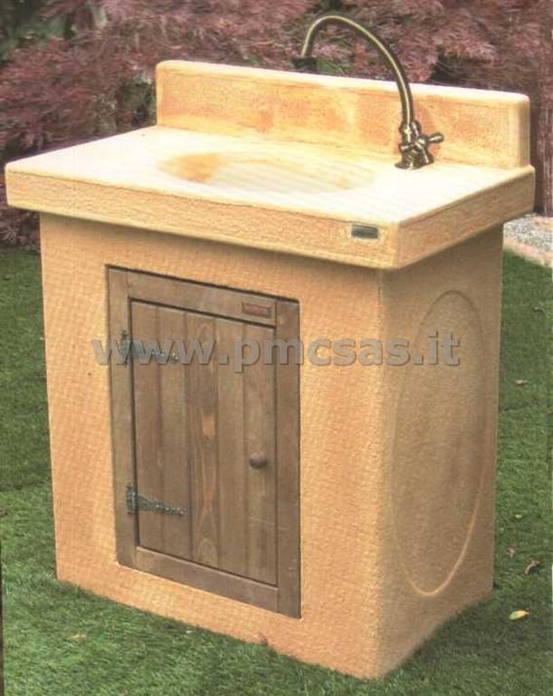 Lavandini da esterno pmc prefabbricati e arredo giardino - Pilozzo esterno ...