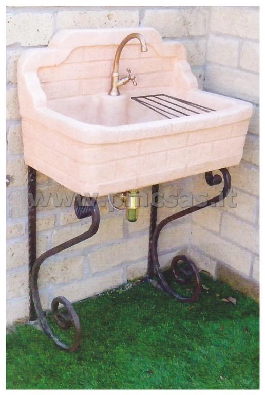 Lavandini da esterno pmc prefabbricati e arredo giardino - Lavandino in pietra per esterno ...