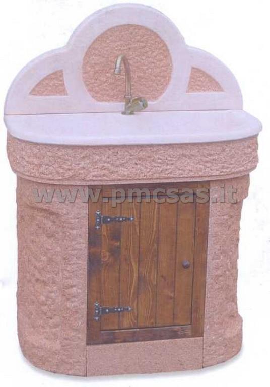 Lavello da parete per giardino piramide lavabo a colonna for Bricoman arredo giardino