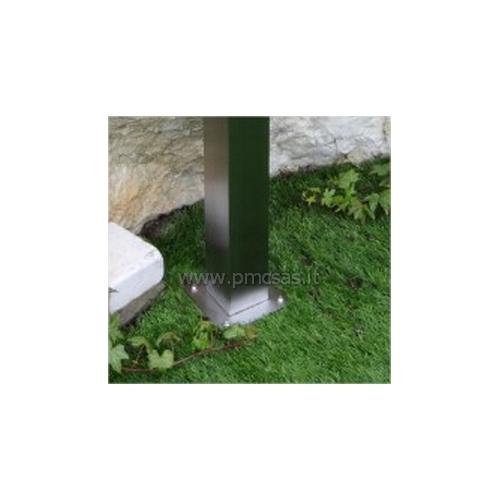 Fontane da giardino acciao quadrato cm601 inox pmc - Accessori per fontane da giardino ...