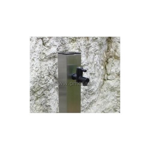 Fontane da giardino acciao quadrato cm601 inox pmc for Fontane da esterno moderne