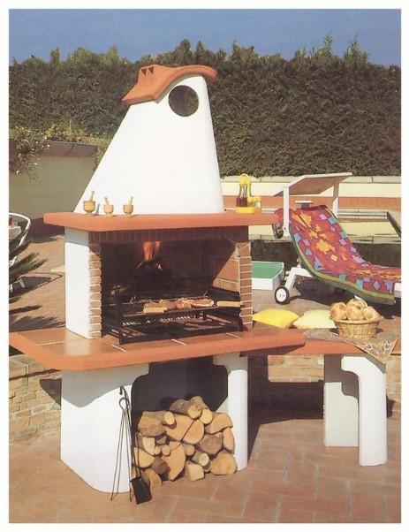 Barbecue a legna in muratura pmc prefabbricati e arredo giardino - Barbecue da esterno prezzi ...