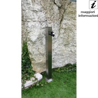 Fontane da giardino acciaio rotondo cm501 inox pmc - Rubinetti per fontane da giardino ...