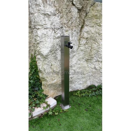 Fontane da giardino acciao quadrato cm601 inox pmc prefabbricati e arredo giardino - Fontane da giardino design ...