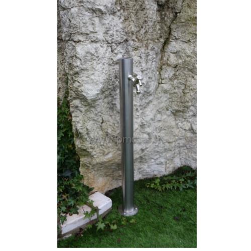 Fontane da giardino acciaio rotondo cm501 inox pmc prefabbricati e arredo giardino - Accessori per fontane da giardino ...
