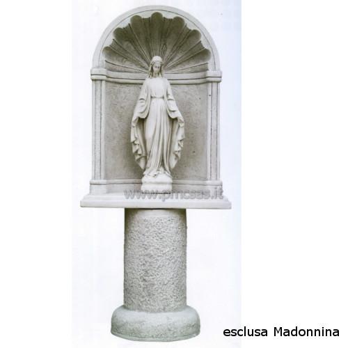 Grotte per madonna grotta clodio gr215ba777 pmc prefabbricati e arredo giardino - Nicchie per statue da giardino ...