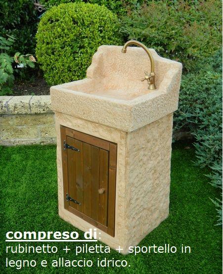 Lavelli da giardino nonno giovanni 540 aq8300roktab pmc prefabbricati e arredo giardino - Lavandino per giardino ...