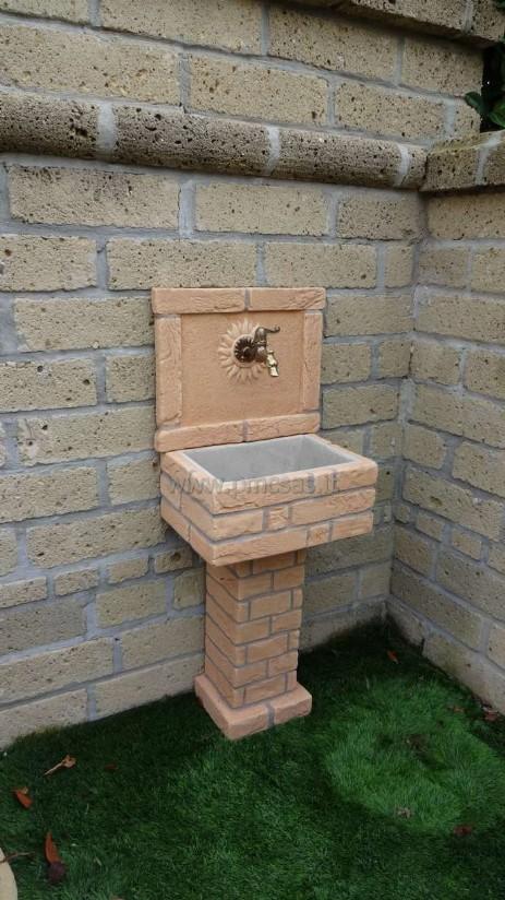 Lavandini da esterno pmc prefabbricati e arredo giardino - Lavelli da esterno in resina ...